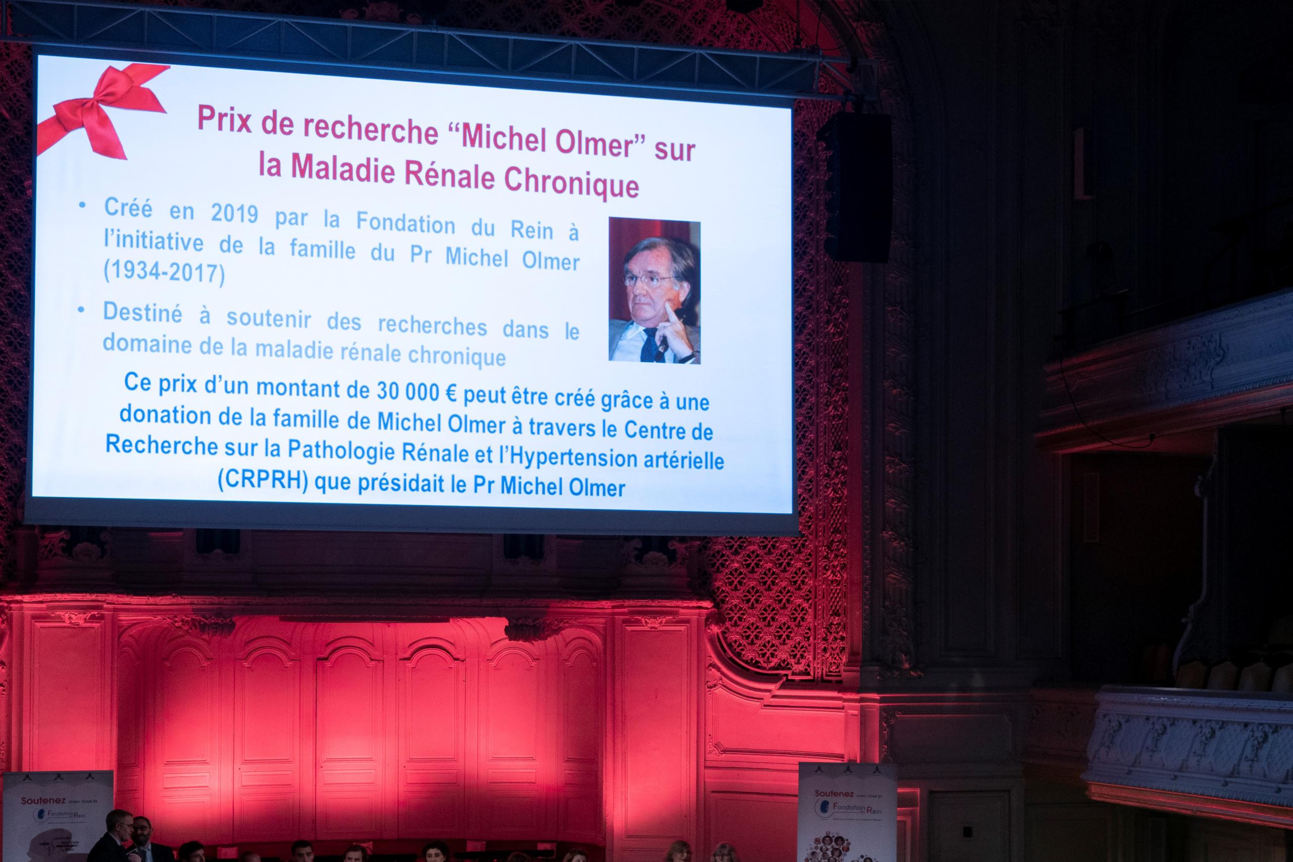 """Prix """"Michel Olmer"""" recherche sur la maladie rénale chronique"""