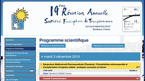 Congrès de la Société Francophone de Transplantation (SFT)